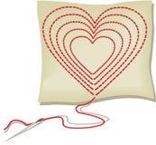 Handcraft heart. Vector illustration of handcraft heart Stock Photo