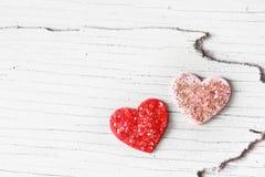 Handcraft hearts Stock Image