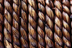Handcraft il vimine naturale di struttura del tessuto Fotografie Stock