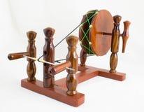 Handcraft la roue de rotation en bois - Indien Charkha Photographie stock libre de droits