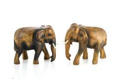 Handcraft la sculpture en bois en éléphant photographie stock