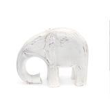 Handcraft la scultura di legno dell'elefante fotografie stock