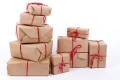 Handcraft les boîte-cadeau Photographie stock