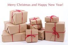 Handcraft les boîte-cadeau Images stock
