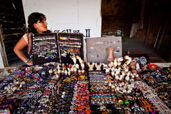 Handcraft market stall in Agua Blanca Museum Royalty Free Stock Photography