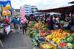 Handcraft market in the town of Otavalo, Ecuador Royalty Free Stock Photo