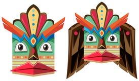 Handcraft mask made of wood. Illustration Stock Photos
