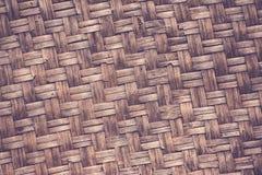 Handcraft naturlig bambu för vävtextur Arkivfoton