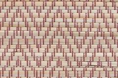 Handcraft o fundo tailandês da esteira do carriço da textura do weave Fotografia de Stock Royalty Free