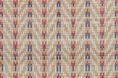 Handcraft o fundo tailandês da esteira do carriço da textura do weave Fotos de Stock
