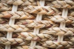 Handcraft o vime natural da textura do weave Fotografia de Stock Royalty Free