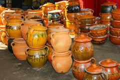 Handcraft pottery Stock Images