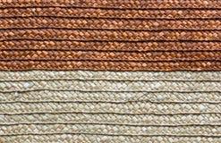 Handcraft rattan woven texture Stock Image