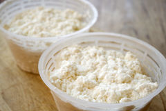 Handcraft ricotta cheese made from ewe's milk Royalty Free Stock Photography