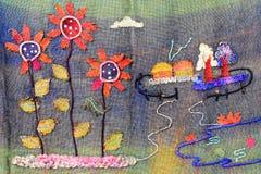 Handcraft słońce kwiaty Zdjęcie Stock