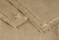 Handcraft serviette Fragment Royalty Free Stock Photos