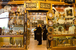 Handcraft store. Iranian handcraft store stock image