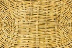 Handcraft a textura da cesta de vime para o fundo Fotos de Stock Royalty Free