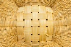 Handcraft a textura da cesta de vime para o fundo Imagens de Stock Royalty Free