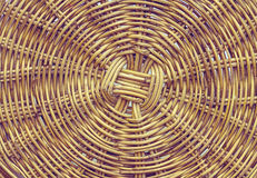 Handcraft a textura de bambu do weave Imagens de Stock Royalty Free