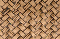 handcraft a textura de bambu do weave para o fundo Foto de Stock