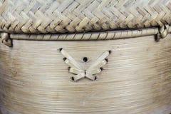 Handcraft van het patroon van het bamboeweefsel Royalty-vrije Stock Afbeeldingen