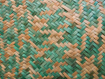 Handcraft weave made of natural and green coloured vegetable fib Royalty Free Stock Photos