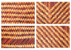 Handcraft weave texture Stock Images