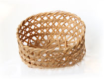 Handcraft weave texture basket Stock Images