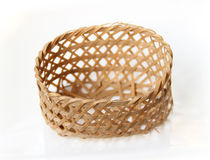Handcraft weave texture basket Royalty Free Stock Photos