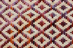 Handcraft weave texture natural bamboo Royalty Free Stock Photo