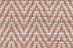 Handcraft weave texture thai sedge mat background. Texture of native thai style weave sedge mat background Royalty Free Stock Photography
