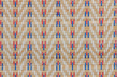 Handcraft weave texture thai sedge mat background Stock Photos