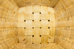 Handcraft wicker basket texture for background Royalty Free Stock Images