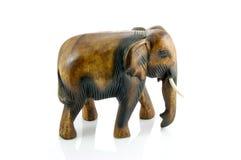 Handcraft wood elephant sculpture Stock Photos