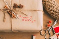 Handcrafted и экологический пакет рождества Стоковое Изображение RF