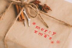 Handcrafted и экологический пакет рождества Стоковое Изображение