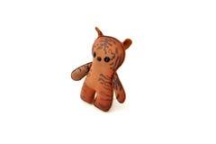 Handcrafted таможней заполненный кожаный кот tabby игрушки - правый Стоковая Фотография
