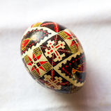 Handcrafted пасхальное яйцо Стоковое Фото
