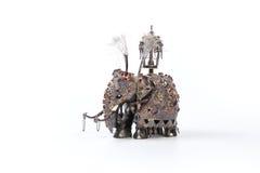 Handcrafted индийский слон изолированный на белой предпосылке стоковое фото rf