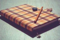 Handcrafted anteckningsbok Arkivbild