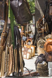 Handcrafted bags for sale in Ubud, Bali. Stock Photography
