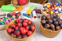 Handcrafted balls Stock Photography