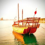 Handcrafted boats stock photography