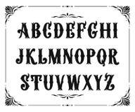 Handcrafted bokstäver med den viktorianska dekoren Royaltyfri Bild