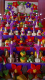 Handcrafted candies in a colorful array for the day of the dead celebration Royalty Free Stock Photo