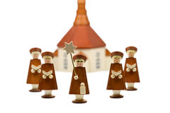 Handcrafted Carolers, produced in Erz Mountains. Germany Royalty Free Stock Photography