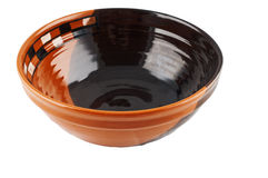 Handcrafted ceramic bowl Royalty Free Stock Image
