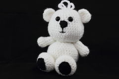 Handcrafted Crochet Teddy Bear Royalty Free Stock Photos