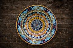 Handcrafted decoratieve plaat Stock Fotografie
